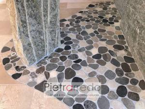 ciottolipiatti costo sassi segati pavimento fiume ticino offerta pietrarredo milano