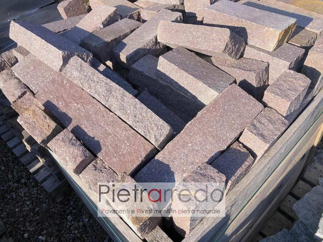 cordoni e cordoli in porfido pietra aiuole binderi prezzo sasso pietrarredo milano