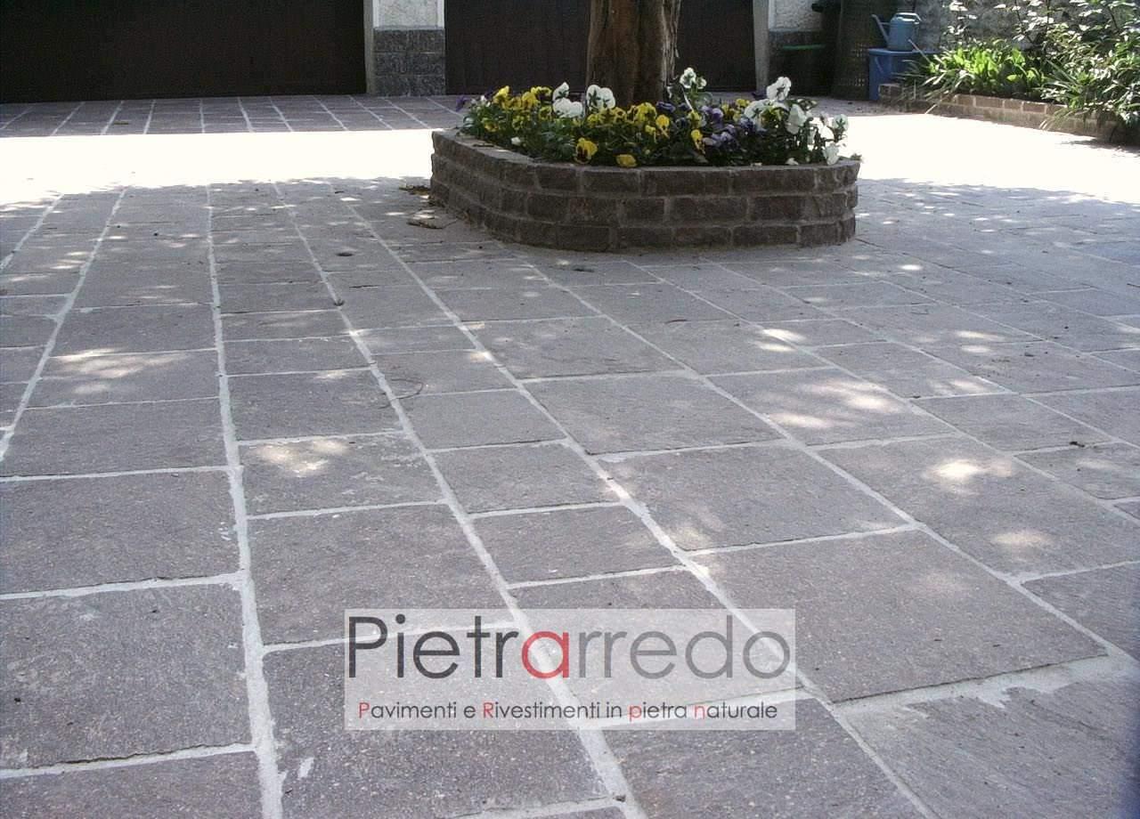 Pavimento in pietra naturale piastrelle in porfido coste a spacco prezzi 50 - Piastrelle pavimento esterno ...