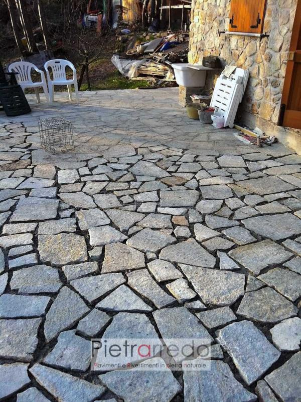 costo metro quadro lastrame pavimento pietra luserna opus mosaico prezzo pietrarredo milano italia