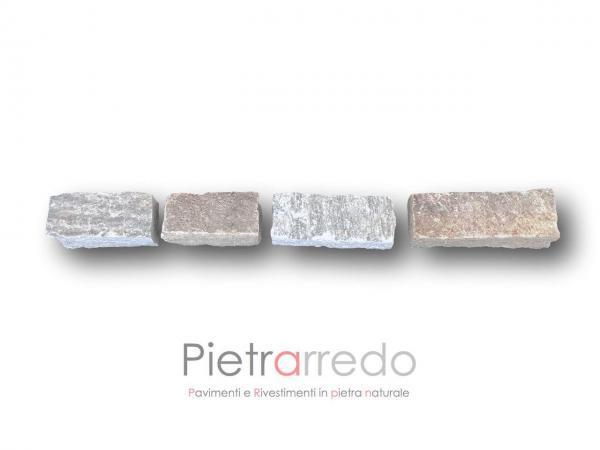 mattoni in pietra luserna binderi bloccheti lati tranciati prezzo costi giardino pavimento prezzo