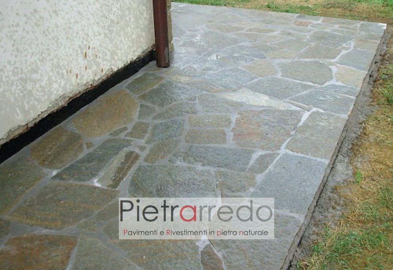mosaico opus luserna pietra naturale prezzo misto costi