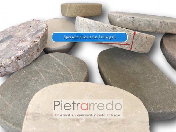 offerta ciottoli sassi di fiume segati piatti pavimenti e decorazioni pietrarredo milano