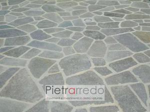 offerta e costi pietra luserna mosaico pezzame lastrame misto pietrarredo pavimento