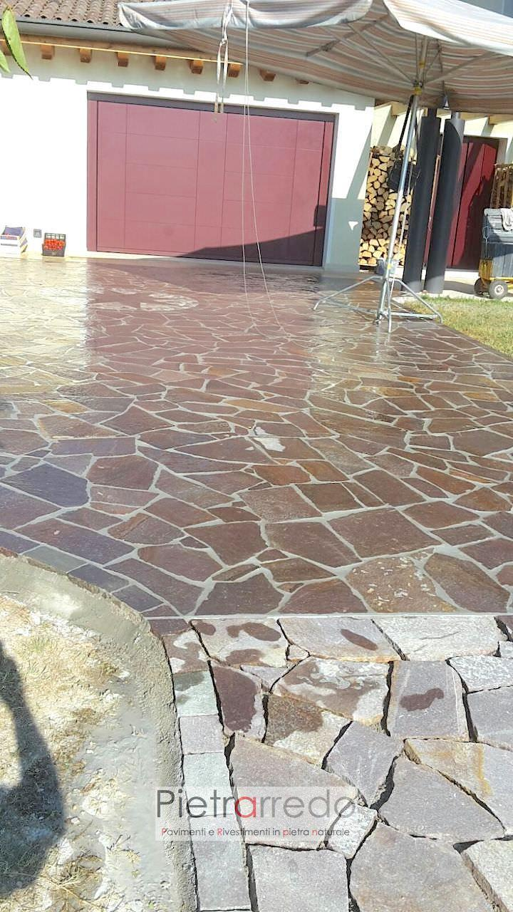 offerta e costo porfido palladiana mosaico opus incertum pietrarredo pietra pavimento