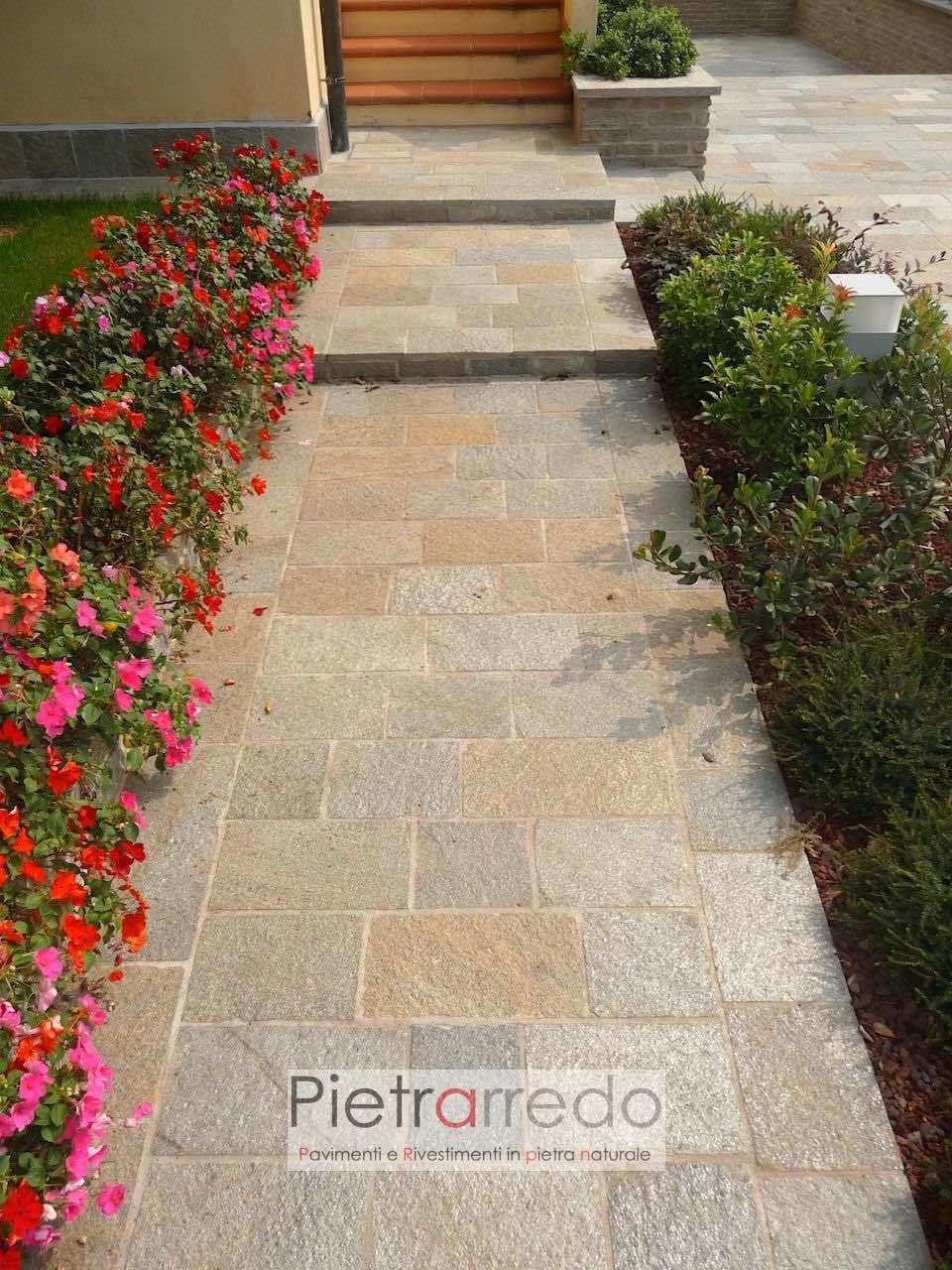 offerta viale ingresso marciapiede pietra luserna prezzo piastrelle rettangolari