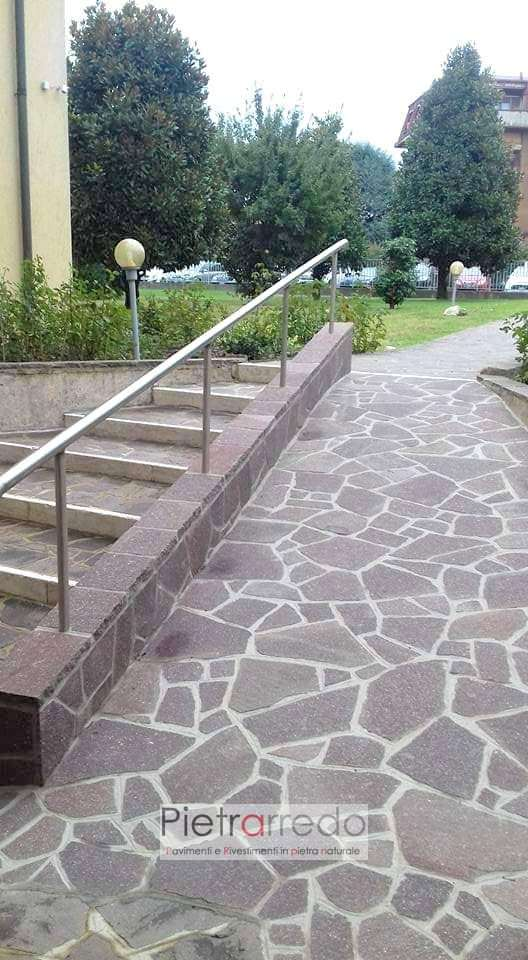 pavimenti in porfido mosaico opus incertum beola milano pietrarredo prezzo costi palladiana viola prima scelta