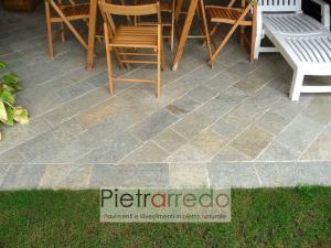 pavimento lati segati piano naturale luserna costo pietrarredo milano