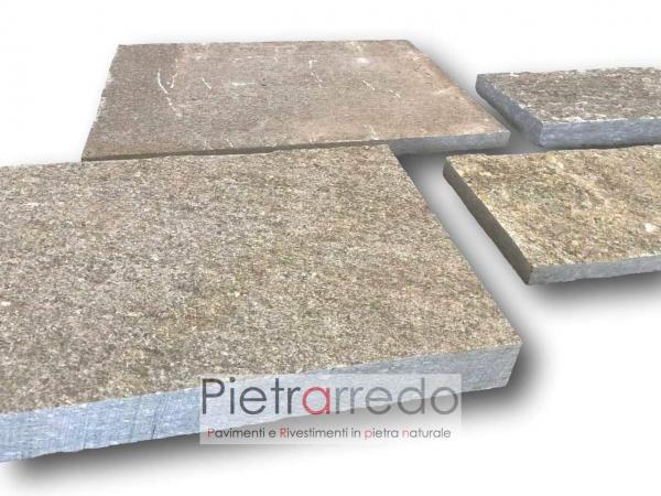 pietra di luserna squadrato rettangolare lati segati dritti prezzo costi milano