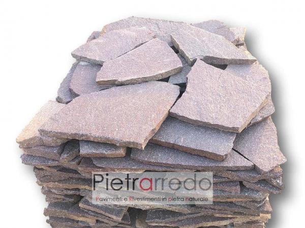 porfido rosso viola trentino offerta prezzo palladiana lastre costo pietrarredo milano