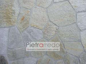 prezzo metro quadro pavimento in pietra luserna mosaico pezzame cocciame milano