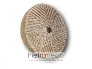 ruota antica in pietra sasso frantoio macina pietrarredo milano costo