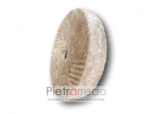ruota grande da frantoio in pietra granito grindstone limestone prezzo costi antica