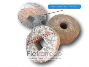 ruote tonde antiche rotonde pietre sasso antiche costo arredo guardino giapponese zen prezzo