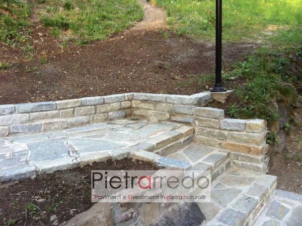scala e contenimento terra pietra luserna binderi e mattoni in sasso pietrarredo milano costo