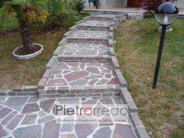 scala in porfido prezzo costi pavimento pietra binderi alzate cordoli prezzi pietrarredo milano