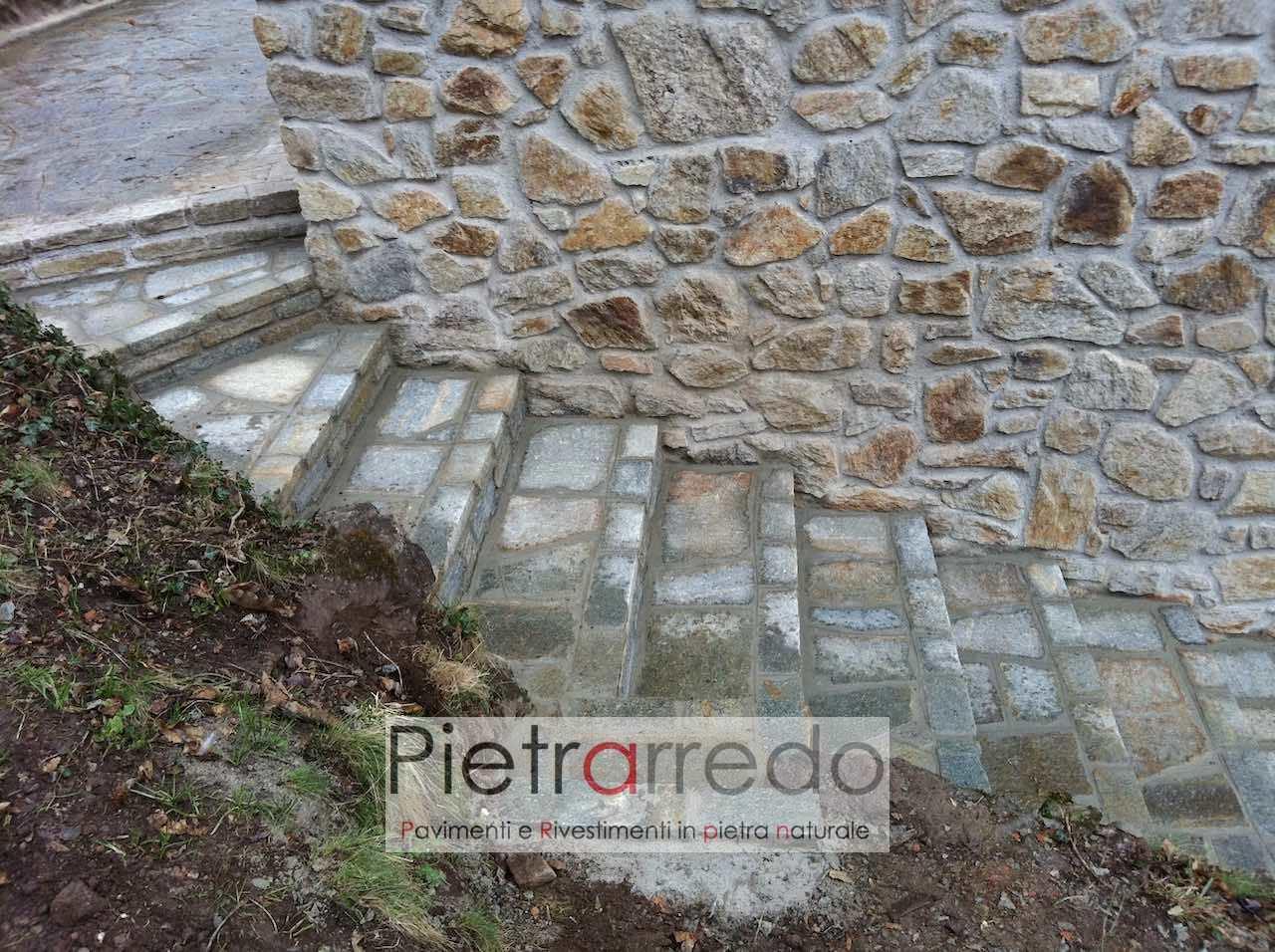 scala pietra luserna alzate binderi prezzo costi mattoni sasso contenimento