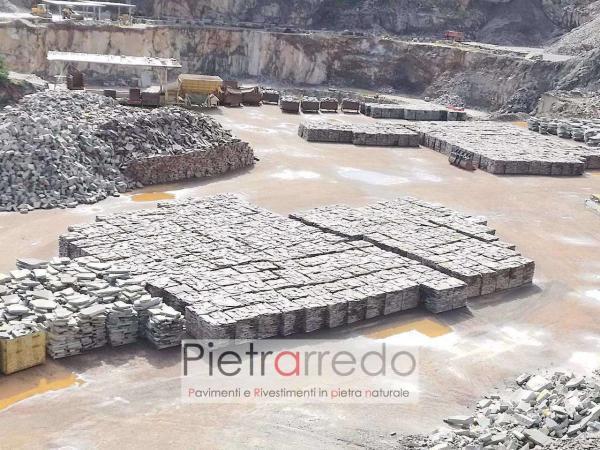 stock pavimenti in pietra naturale porfido viola offerta mosaico palladiana cava pietrarredo milano