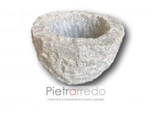 vasca in sasso pietra da giardino arredamento stile costo pietrarredo milano