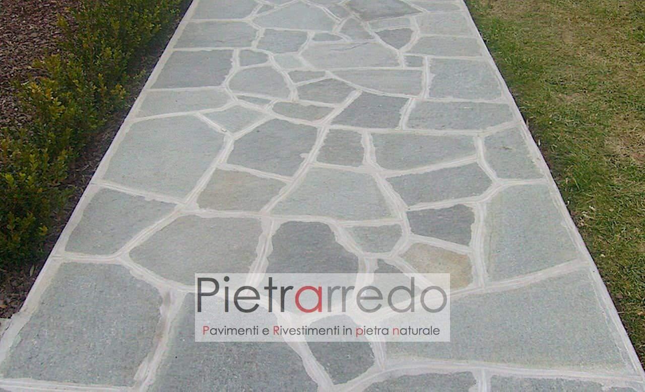 """Vialetti In Pietra Prezzi pavimento in pietra naturale """"luserna mosaico, lastrame, opus incertum,  spessore 2-4cm"""""""