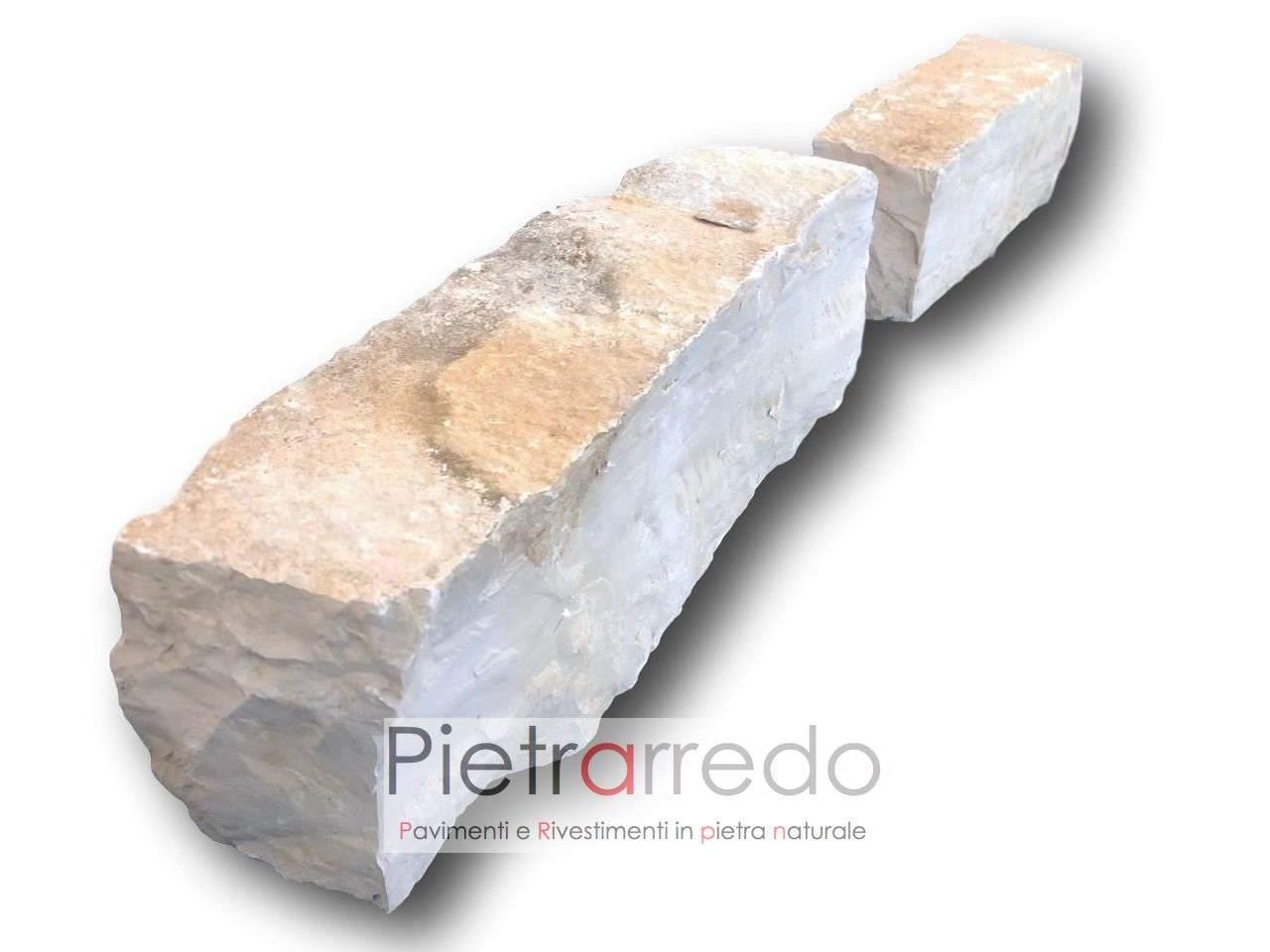 Mattoni Bianchi Per Esterni mattoncini-blocchetti-binderi in pietra naturale per aiuole e bordure trani  prezzo cost