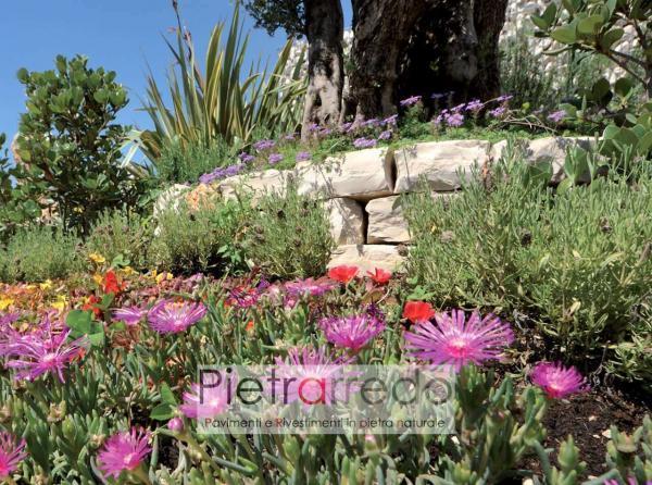 blocchetti in pietra sasso per aiuole decorazioni pietra di trani beige blocchetti mattoncini pietrarredo prezzo milano