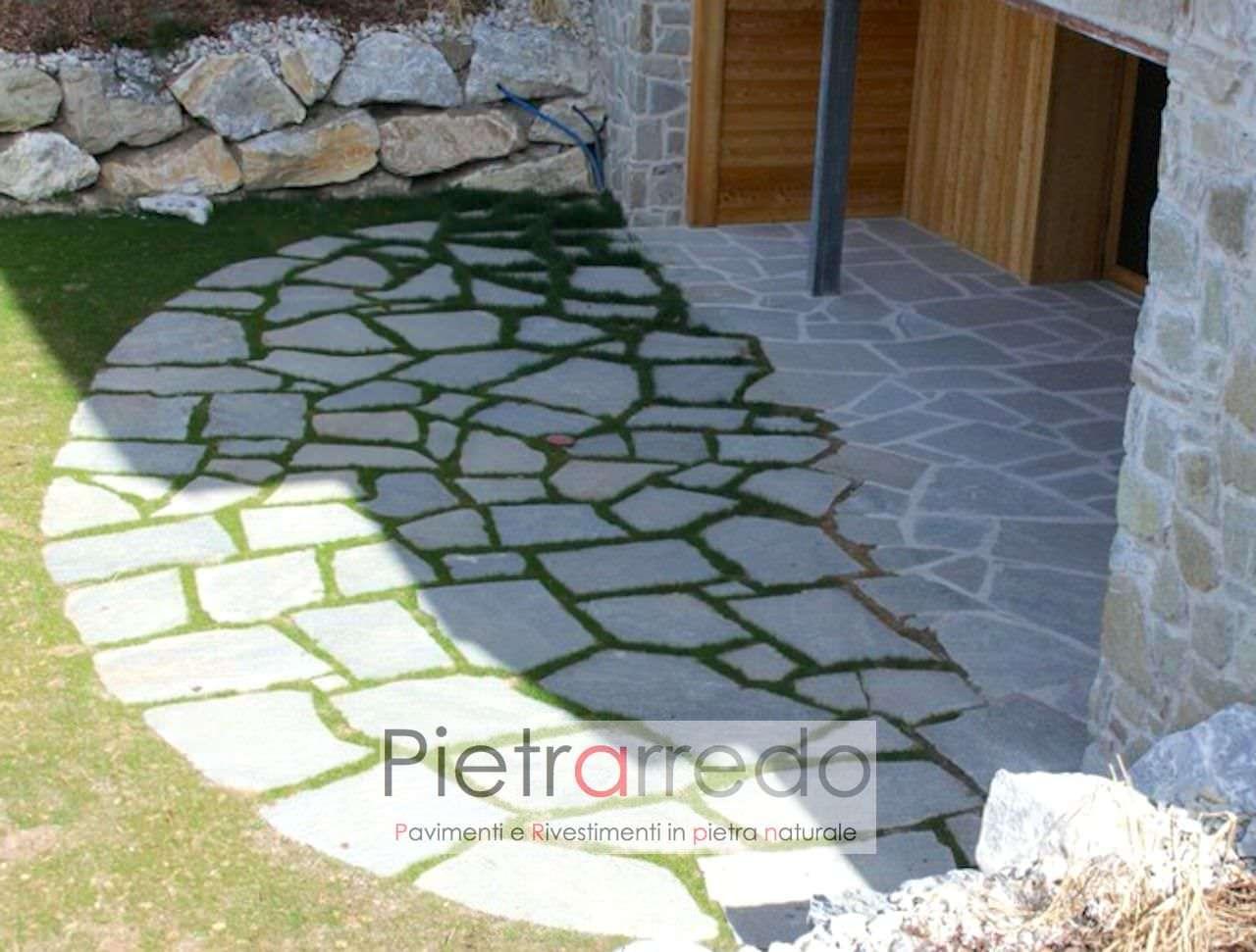 Posa Pavimento A Secco Giardino lastre e pietre giganti da giardino, camminamenti prato e vialetti , costi  -50%