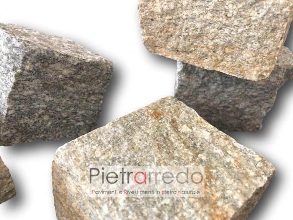 cubetti sanpietrini grigi pietra luserna costi pavimenti prezzi mq pietrarredo milano