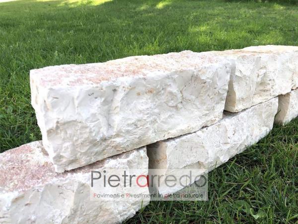 decorazioni sasso aiuole pietra mattoncini prezzo trani barletta pietrarredo milano