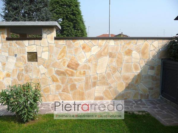 lastrame in pietra per pavimento giallo quarzite brasile barge prezzo costi online stock