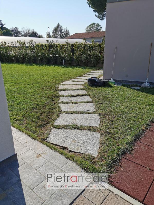 lastre giganti in pietra naturale per giardini passaggi aiuole stone garden pietrarredo prezzo