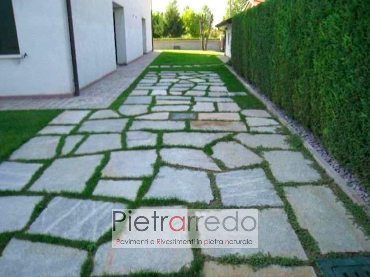 Lastre e pietre giganti da giardino camminamenti prato e vialetti costi 50 - Pietre camminamento giardino ...