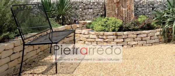 mattoncini in pietra per aiuole prato decorazioni trani barletta pietrarredo milano sasso mattoni prezzo beige bianco