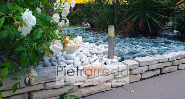 mattoni in pietra per aiuole fioriere giardini zen prati costo metro lineare pietrarredo milano