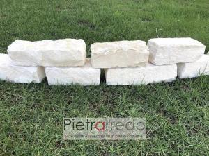 offerta per bordure in sasso pietra di trani mattoncini bordure aiuole prezzo pietrarredo milano