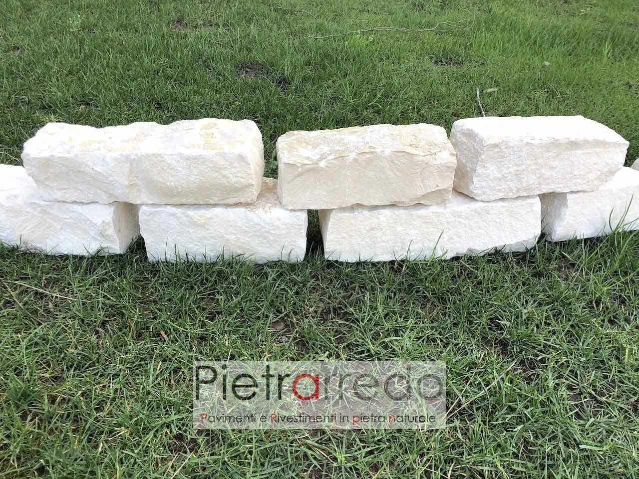 Mattoni Bianchi Per Esterni mattoncini-blocchetti-binderi in pietra naturale per aiuole e bordure
