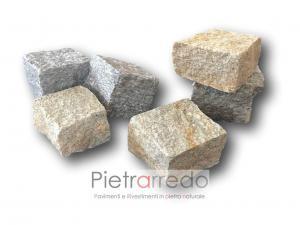 offerta pietrarredo pavimento cubetti di luserna colore misto grigio formati 4-6 6-8 cm