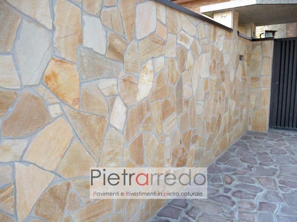 offerta stock quarzite per pavimento giallo rivestimento costi pietrarredo milano