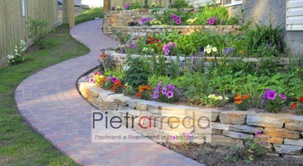 offerte creazione aiuole e fioriere in bordi pietra trani prezzi costi