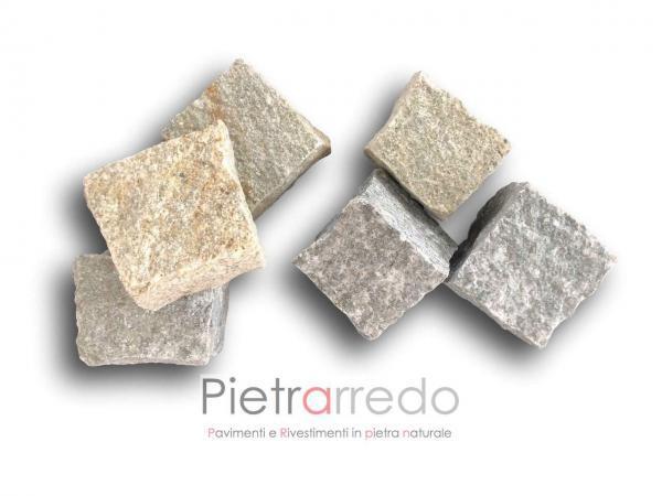 offerte e prezzi dei cubetti sanpietrini in pietra di luserna colore grigio misto pietrarredo milano pavimenti sasso