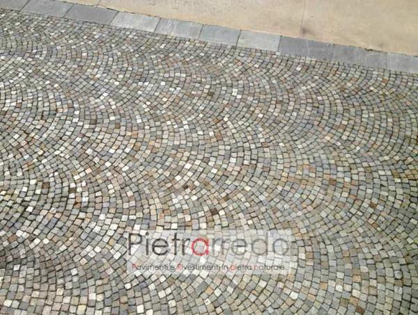 pavimentazione cortile in cubetti per piazze luserna sanpietrini costi