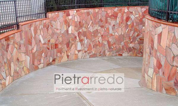pavimento e rivestimento in quarzite rosa brasiliana offerta stock prezzi mq pietrarredo milano