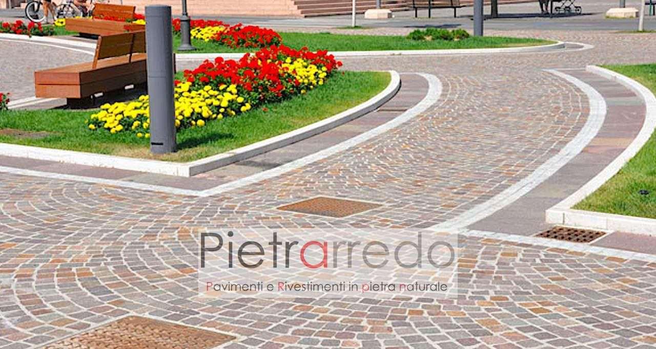 Pavimento Esterno Per Giardino.Pavimento In Pietra Naturale Cubetti In Porfido Sanpietrini Bolognini E Selciati