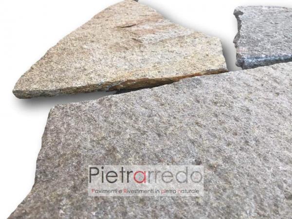 pavimento esterno in pietra sasso selciati marciapiedi piazzali luserna prezzo pietrarredo milano mosaico