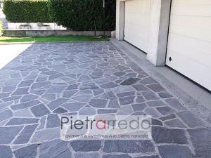 pavimento in beola grigia mosaico opus costo e prezzo pietrarredo milano pavimento esterno