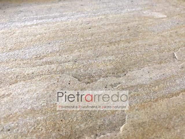 pavimento in quarzite gialla barge piano cava offerta stock prezzo pietrarredo milano