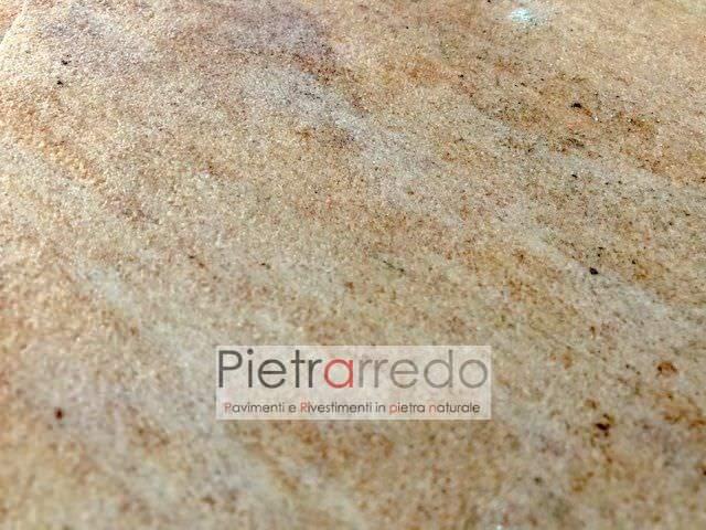 pavimento quarzite rosa brasiliana piano cava palladiana mosaico prezzo