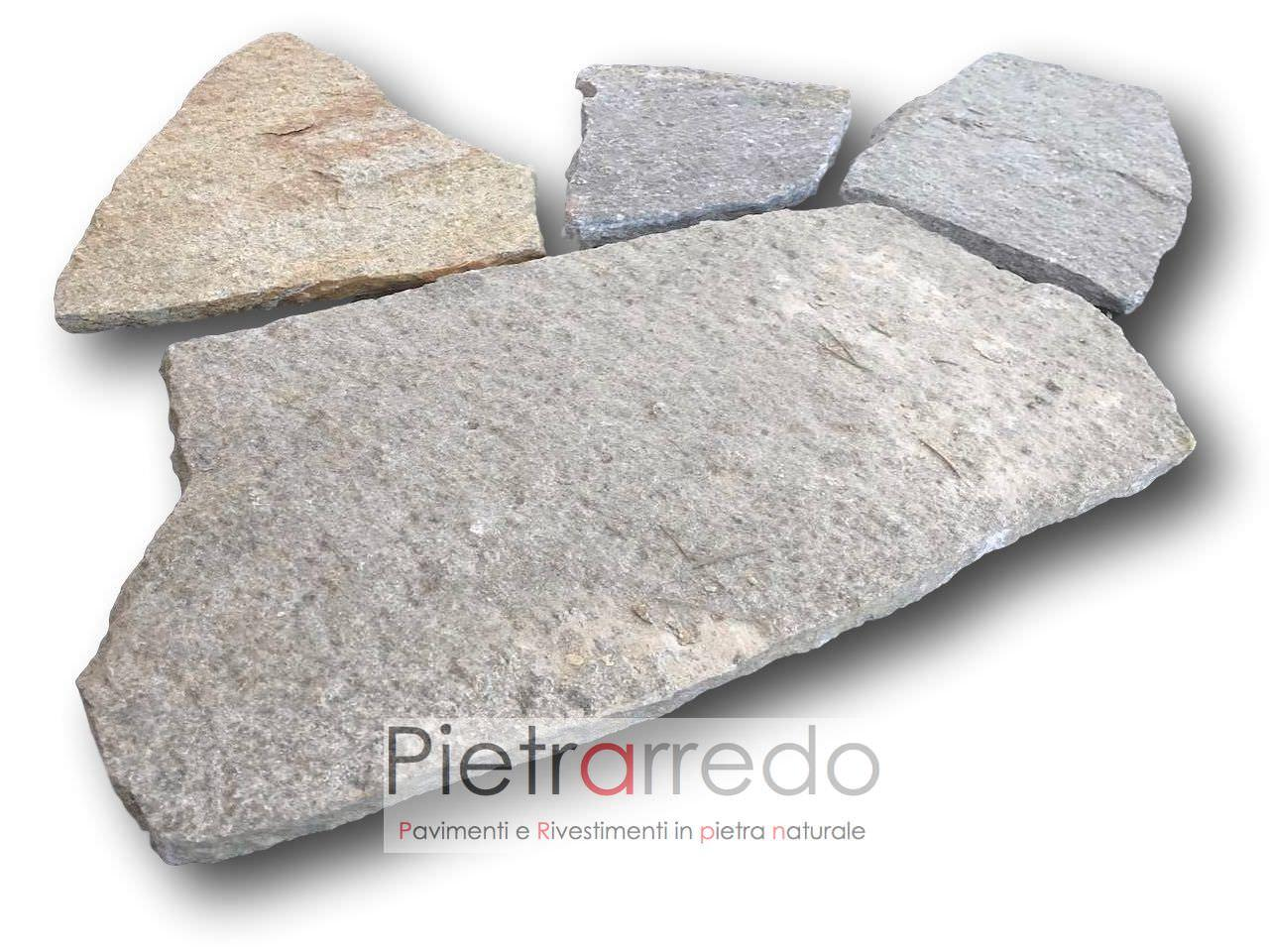Pavimento e rivestimento in luserna SOTTILE mosaico opus, PREZZI E COSTI