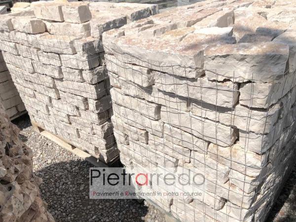 prezzo bloccheti per aiuole pietra trani pietrarredo milano costi