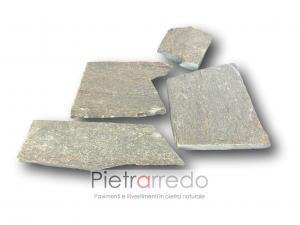 prezzo e costi pietra serpentino verde a spacco mosaico palladiana lastrame prezzi milano